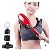 Handheld Precussion Massager Therapy Device Electric Massager for Muscle Neck Back Shoulder Pain Relief Health Care Massge Tool,Red