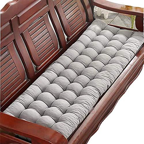 sunshinelh Cojín de banco grueso, rectangular para asiento de banco, almohadilla suave, para tumbona, silla columpio, cojín para jardín al aire libre para 2 3 plazas (K,160 x 55 cm)