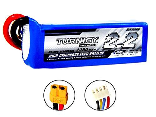 PZS Stores Turnigy–Batería de polímero de Litio (2200mAh, 3S, 11,1V, 20–30C, etc, para T-Rex 450