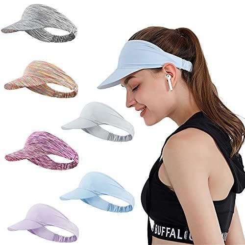 Ultralight Visera Visor Gorras Mujer Hombre Sombreros para el Sol Protección UV para Running Golf Tenís Deportes al Aire Libre