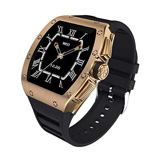DHTOMC Reloj inteligente de pantalla táctil completa a color de monitoreo de sueño IP68 impermeable reloj deportivo-oro