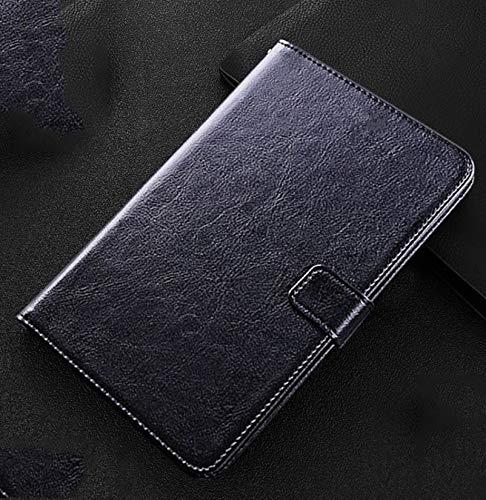 DANYCU Compatible con Samsung Galaxy Tab A7 / T500 Funda de Cuero de la Tableta de Cuero Tapa Protectora a Prueba de Golpes con tragamonedas Kickstand & Tarjetas Caja para niños,Negro