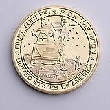 Apolo en la Luna,Progreso Humano,Astronautas,Ciencia,Metal,Monedas,Monedas Conmemorativas,Alta Calidad,2 Piezas. Realzar/dorado/Paridad
