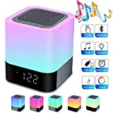 Night Lights Bluetooth Speaker,HoaBoly Alarm Clock Wireless Bluetooth...