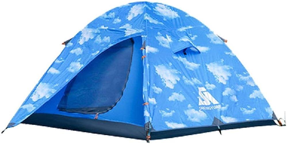 WFF Camping en Plein air avec Tente en Aluminium, Tente d'escalade pour 3 Personnes en Plein air, Tente de Camping,Nuage,Cm