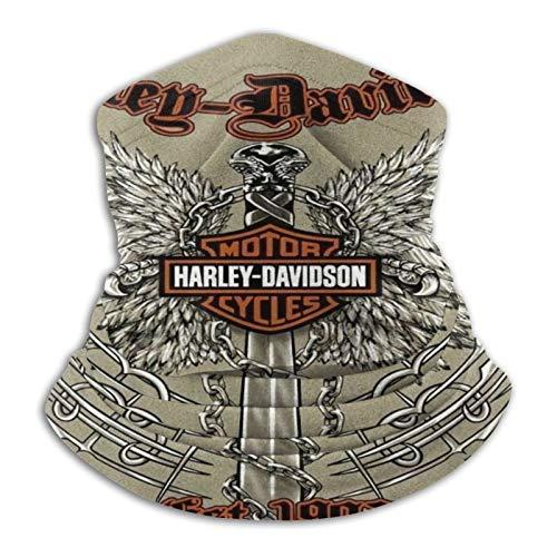 Custom made Harley Davidson United - Calentador de cuello de microfibra para hombres y mujeres, cubierta elástica para la cara de media máscara de tubo bufanda de versatilidad bandana diadema