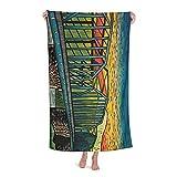 Ackley Bridge Toallas de baño de microfibra, accesorios de viaje, linda toalla de playa para mujeres, toallas de playa para hombres, toallas grandes para adultos