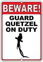 注意してください! 義務のおかしい引用アルミニウムメタルサインのガードケッツェル
