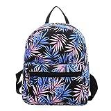 Minsa 1 mochila de viaje con diseño de hojas de acacia y hojas de gran capacidad para adolescentes y niñas., Blue (Azul) - CQS4TZ1P1BF2N35SL56119