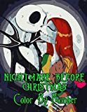 Nightmare Before Christmas Color by Number: Academy Award for Best Visual Effects Nominee Film Illustration Color Number Book for Fans Adults Creativity Gift