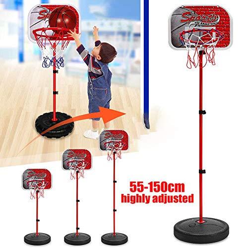 Yajun Verstellbarer Basketball ständer Kinder hängen Indoor Mini Hoop Board für Kinder Spiel Basketball Pumpe 1,5 Meter Eltern-Kind-Sportspielzeug