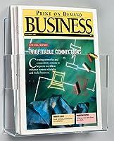 クリアアクリルの雑誌に8–1/ 2x 11インチ調整可能なポケットパンフレットホルダーまたは4x 9-inchパンフレット、9x 10x 1–3/ 4インチ–2のセット販売