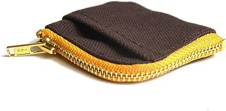 One thread 日本製 小さくて薄い小銭入れ 国産綿帆布「富士金梅(R)」使用