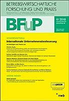 Internationale Unternehmensbesteuerung: BFuP 6/2018