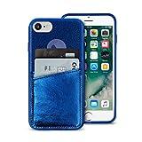 Puro IPC747CSHINEPDKBLUE Shine Pocket Schutzhülle für Apple iPhone 6/6S/7/8 Blau