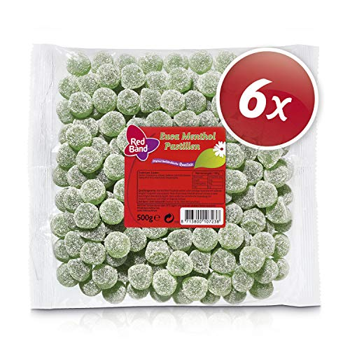 Red Band Euca Menthol Pastillen 500 g Beutel - 6er Pack | Fruchtgummi