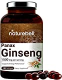 Korean Red Ginseng Supplements (Panax Ginseng Root), 1500mg Per Serving, 180 Liquid Softgels, Most Active Ginsenosides...