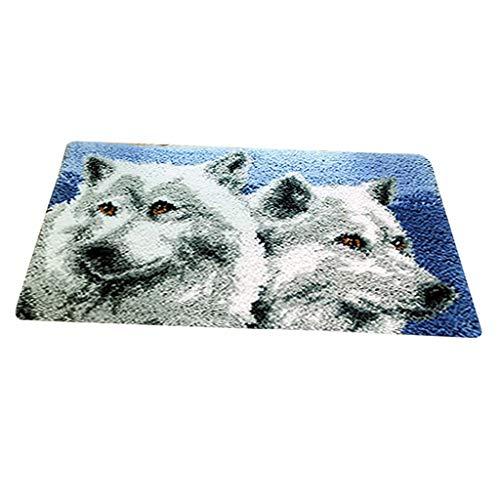 Baosity DIY Latch Hook Kit Carpet Rug Making Kit 20x12