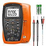 ANNMETER Digital Multimeter,DC/AC Current Voltage Resistance Capacitance Temp Hz Tester AN-42B,6000 Counts True RMS Volt Amp Ohm Electric Meter with Backlight