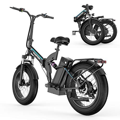 martes Vélo Électrique Pliant Gros Pneu 20 * 4, Batterie Au