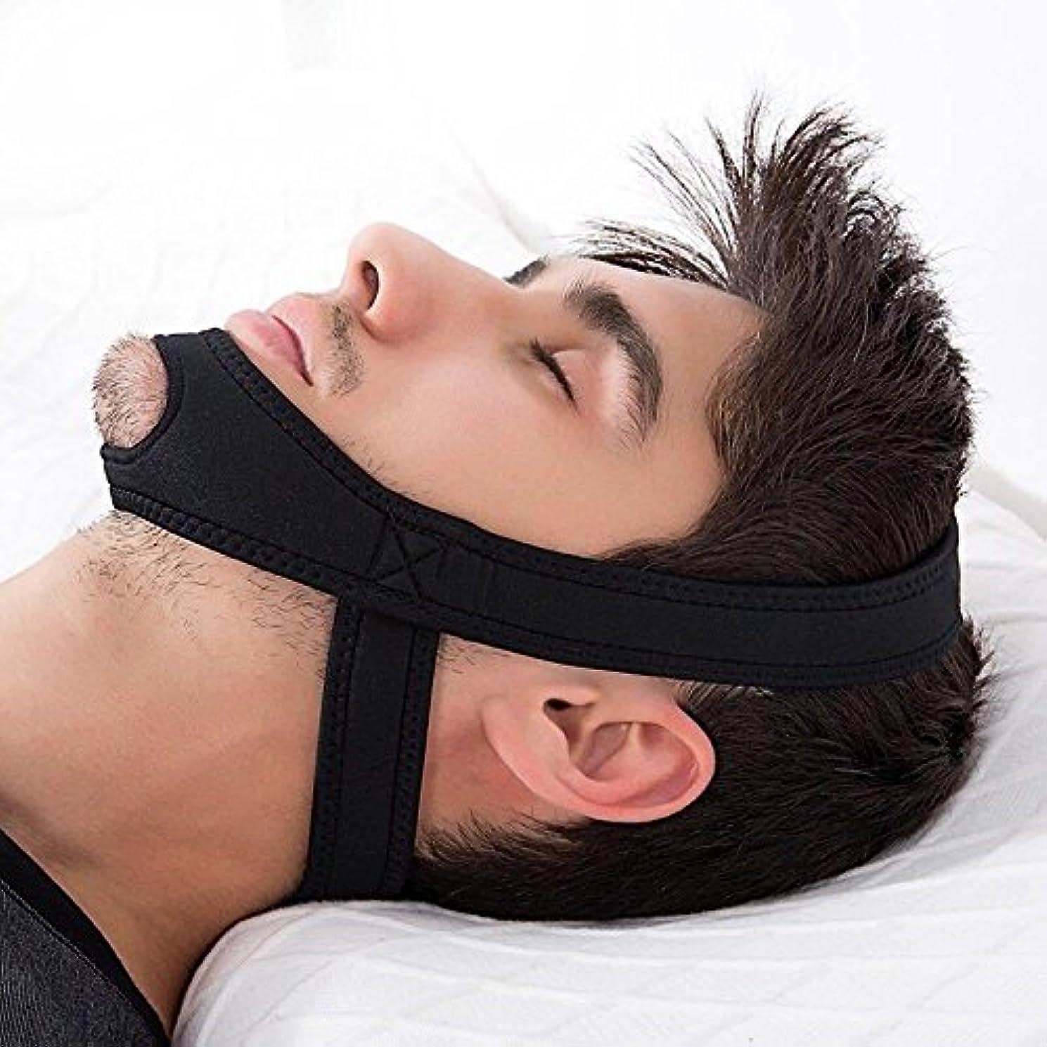 すべてサンダーパークNOTE 新ネオプレンアンチいびきストップいびきあごストラップベルト抗無呼吸顎ソリューション睡眠サポート無呼吸ベルト睡眠ケアツール