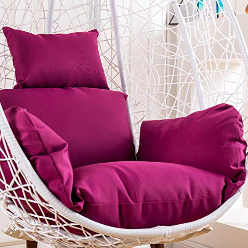 Single Basket Cushion Swing Chair pad Thicken Home Balcony Egg Nest Chair Cushion Rattan Cradle Back mat Cushion only No Chair-A diameter105cm 41inch