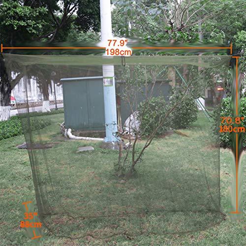 Magarrowアウトドア蚊帳軽量蚊よけ網高密度メッシュ素材固定用テントアウトドア(グリーン)