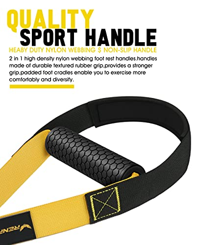 RENRANRING Home Resistance Training Kit, Resistance Trainer Fitness Straps for Full-Body Workout, Bodyweight Resistance Bands with Handles, Door Anchor, Workout Guide for Home Gym