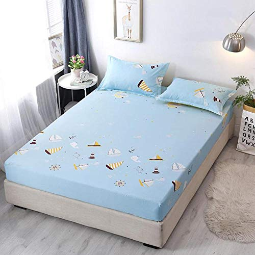 Ultra Soft Elastic deep pockets sheets,Polyester fiber fitted sheets, cartoon dustproof mattress protector suitable Little kids bedroom-H_150*200cm