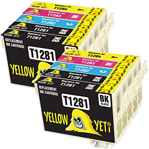 Yellow Yeti Reemplazo para Epson T1281 T1282 T1283 T1284 T1285 10 Cartuchos de Tinta compatibles con Epson Stylus SX235W SX425W SX435W SX445W SX125 SX130 S22 BX305FW BX305F SX440W SX438W SX420W SX230