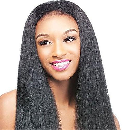 360 ce-Perücke Kinky Straight Virgin-Haar, 130% Dichte, Schwarz Schwarz Perücke mit Baby Haar für Schwarz Frauen