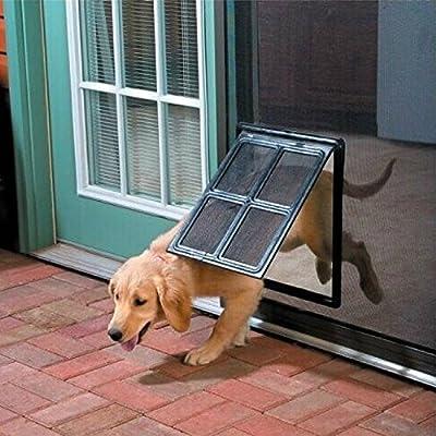 """Pet Screen Door - Dog Door for Screen Door , 12"""" x 16"""" - K&L Pet"""