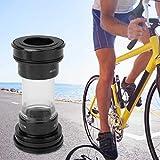 FOLOSAFENAR Eje de pedalier de acrílico Premium fácil de Instalar Eje de pedalier de Ciclismo Resistente, para la Serie Shimano(Black)