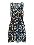 Only Onlnova Life S/L Sara Dress AOP WVN 7 Vestido, Night Sky/AOP:Bruxelles Flower, 38 para Mujer
