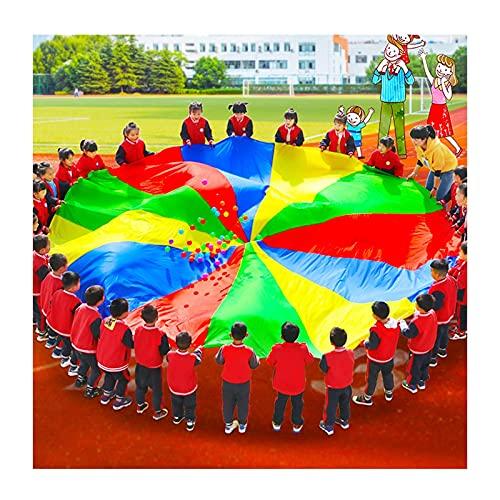 Juega paracaídas juegos de paracaídas al aire libre, juegos de paracaídas duraderos para niños, ejercicio de jardín de infancia, juguetes de paracaídas para niños (tamaño: 7 m) (tamaño: 3 m)