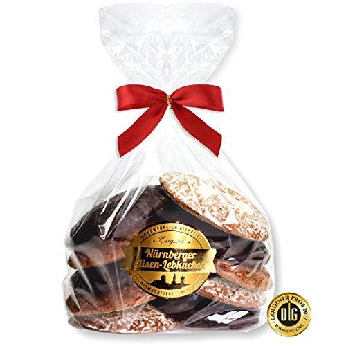 Nürnberger Elisen Lebkuchen -Bruch- Inhalt: 800g - 5x zucker glasiert und 5x schokoliert - Vorteilspackung direkt aus dem Fabrikverkauf