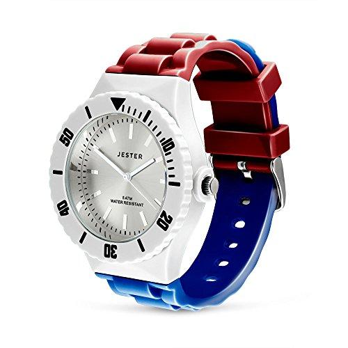 Nederlandse Vlag Horloge, Kleuren van Nederland, Volwassen Unisex Sport Horloge door Jester