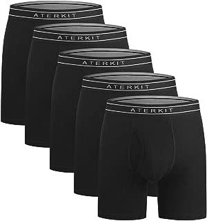 aterkit Men's Underwear Boxer Briefs No Ride-up Soft Cotton Boxer for Men Pack