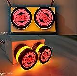 Gear Up Metallic Handle Bar End Dual Led Bike Turn Signal Indicator Light