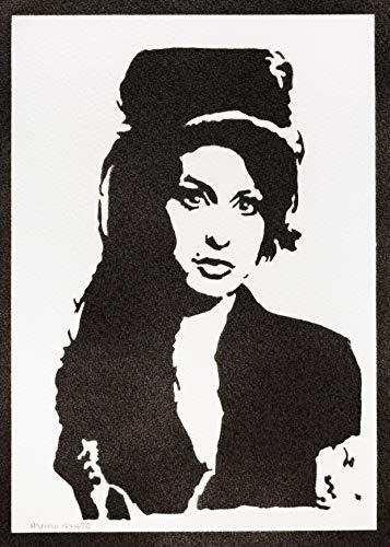 Póster Amy Winehouse Grafiti Hecho a Mano - Handmade Street Art - Artwork