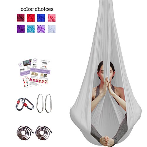 Review Of Aum Active Aerial Yoga Hammock - Include Aerial Silk Fabric, Carabiners, Extension Straps,...