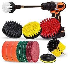 TOOGOO Drill Brush Set, Extend Long ttachment, Scrub Pads, Sponge, Power Scrubber Cleaning Kit for Grout, Tile, Carpet, Sink, Bathtub, Bathroom, Shower, Tub, Kitchen, Car, Pool, Boat