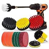 Essenc Drill Brush Set, Extend Long Attachment, Scrub Pads, Sponge, Power Scrubber Cleaning