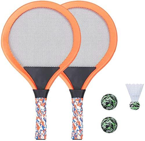 RENFEIYUAN Kinder Tennisschläger Tennis Schläger Spiel Spiel Strand Spielzeug Badminton Set für Kinder mit 2 Schläger (grün) Badminton Sets (Color : Orange)