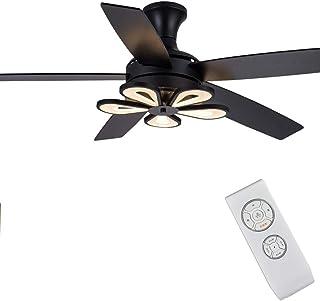 N / A Los Ventiladores de Techo araña de Motor de luz LED Ventilador de Techo a Distancia de Hoja retráctil silenciosas e Invisibles Intensidad Variable, para Live Room, 42 Pulgadas,Negro