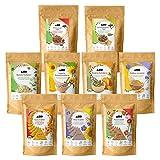 AHO Kennenlern Paket | Mit allen AHO Produkten zum Probieren | 9 Tüten = 1,1kg | Bio, Vegan und Plastikfrei