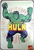 HULK ハルク ブリキ看板 20cm×30cm アメリカン ヒーロー キャラクター インテリア雑貨