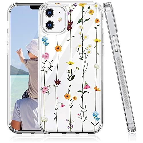 Oihxse TPU Phone Case Compatible con Samsung Galaxy S6 Edge Plus, Ultra-Fina Silicona Suave Transparente Anti-Rasguño Cárcasa, Diseño de Patrones de Flores, Encajes, Animales y Plantas