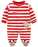Bebé Mameluco Invierno Terciopelo Ropa Recién Nacido Pijama Unisex Bodies Monos Peleles,B-80cm
