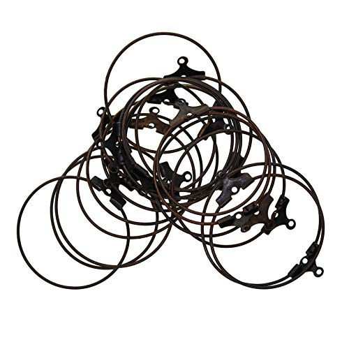 kowaku 20 Piezas DIY Craft Round Hoop Loop Ear Wire Jewelry Making Pendientes Resultados - Cobre Antiguo, Individual